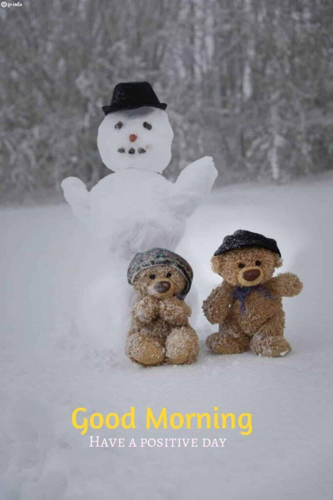 Good morning love teddy bear images
