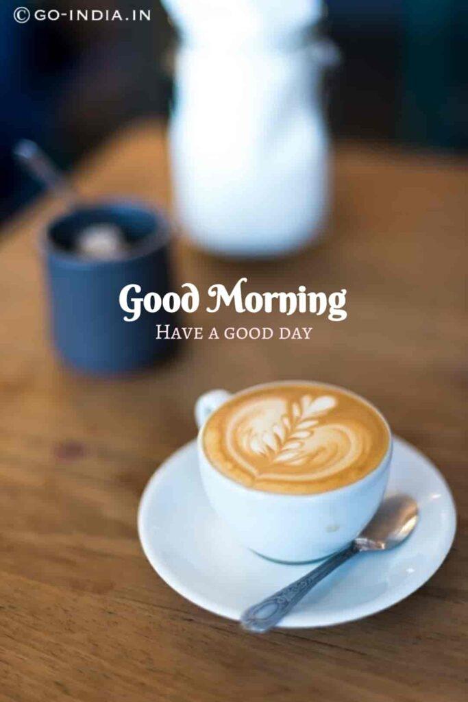 good morning coffee heart