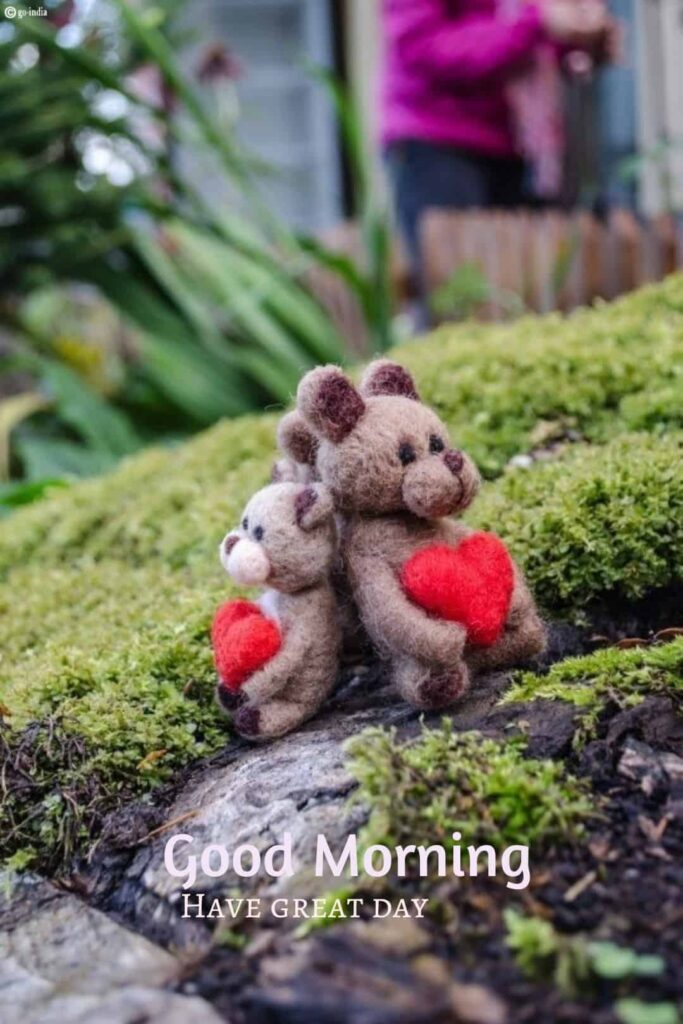 good morning teddy bear love