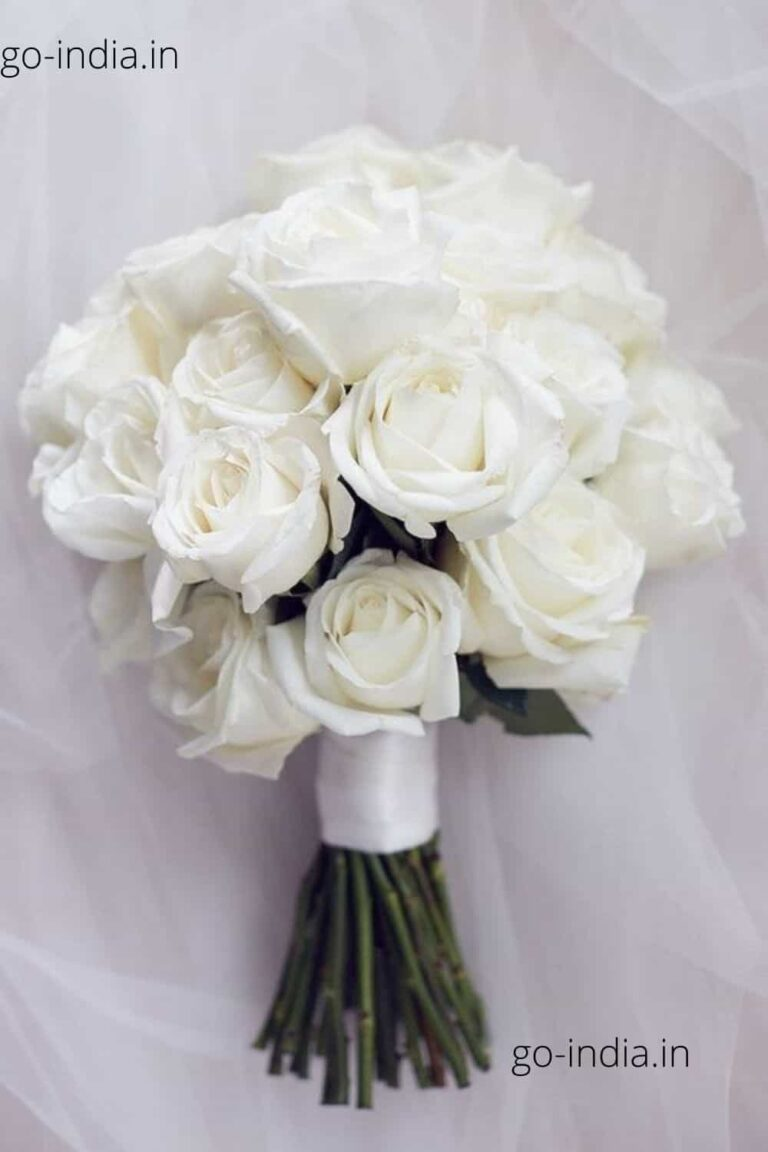 a bouque of beautiful white rose