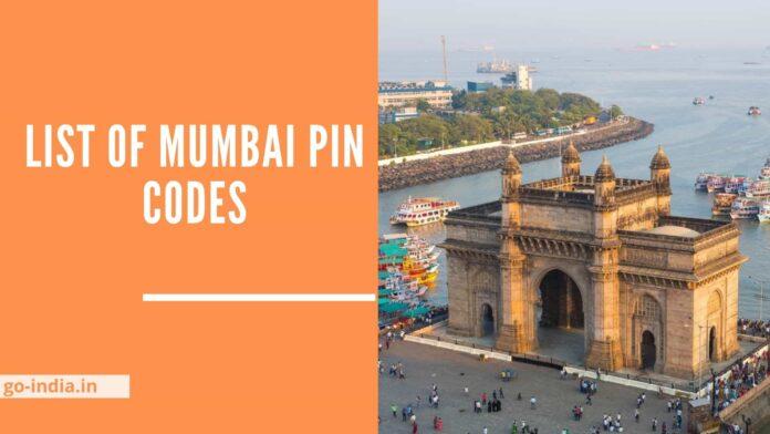List of Mumbai Pin codes