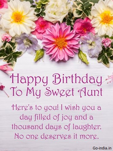 happy birthday aunt images for whatsapp stroy