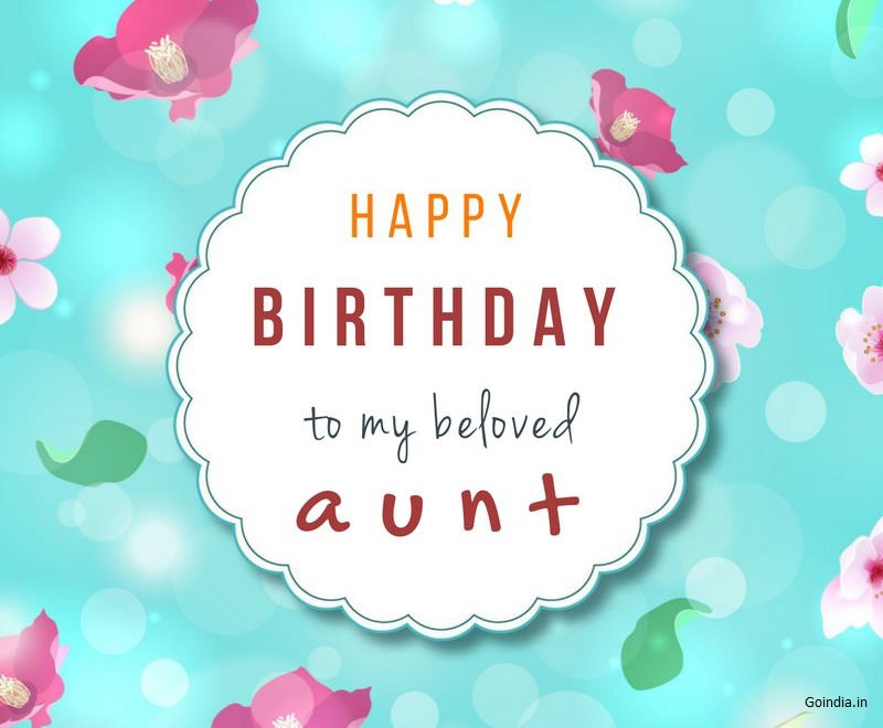 happy birthday auntie images with wishes