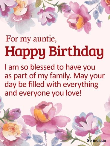 happy birthday dear aunt images